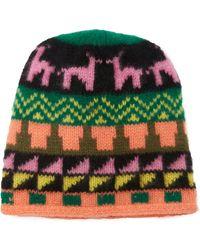 The Elder Statesman - Summit Intarsia Cashmere Hat - Lyst