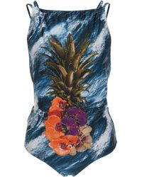 Agua de Coco - Embroidered One-piece Swimsuit - Lyst