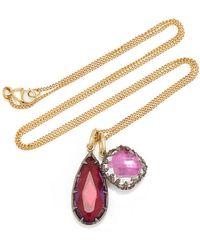Larkspur & Hawk - Lady Emily 14k Gold, Black Rhodium, Sterling Silver And Quartz Necklace - Lyst