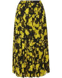 Rochas - Floral Pleated Midi Skirt - Lyst