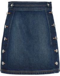 Current/Elliott - Ballast Denim Skirt - Lyst