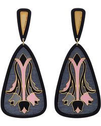 Anna E Alex - Tulipani Deco Earrings - Lyst