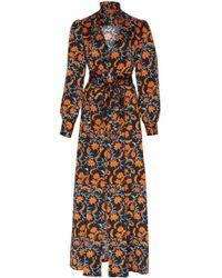 Seren London - Olga Silk Midi Dress - Lyst
