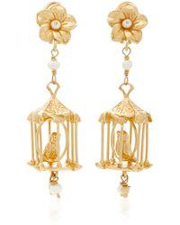 Of Rare Origin - Pagoda 18k Gold Vermeil And Pearl Earrings - Lyst