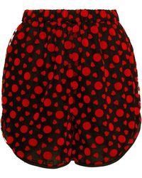 ANOUKI - Black Tulle Shorts - Lyst