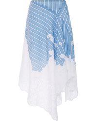 Jonathan Simkhai | Scallop Cutout Embroidery Handkerchief Skirt | Lyst