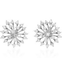 Hueb | 18k White Gold Luminus Earrings | Lyst