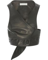 Nellie Partow - Athena Leather Vest - Lyst