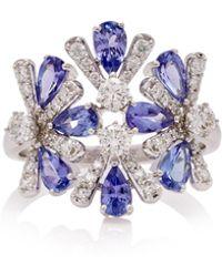 Hueb - Exclusive 18k White Gold, Tanzanite And Diamond Ring - Lyst