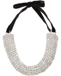 Alessandra Rich - Curved Crystal Hair Band - Lyst