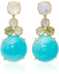 Daria de Koning Czarina 18k Gold Multi-stone Drop Earrings
