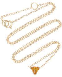 Shahla Karimi - Trillion 14k Gold Citrine Necklace - Lyst