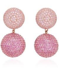 Anabela Chan - Rose Sapphire 18k Gold Drop Earrings - Lyst