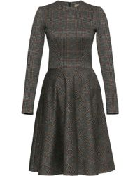 Lena Hoschek - Broker Plaid Cotton Dress - Lyst