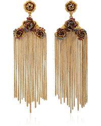 Erickson Beamon | Vermeil Bouquet 24k Gold-plated Crystal Fringe Earrings | Lyst