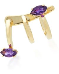 Bea Bongiasca | Gloriosa Lily 9k Gold Amethyst Spiral Earrings | Lyst