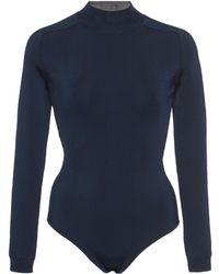 Lanvin - Mock Neck Bodysuit - Lyst