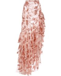 Rodarte - Sequin Ruffled Skirt - Lyst