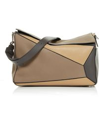 Loewe - Leather Panel Puzzle Bag - Lyst