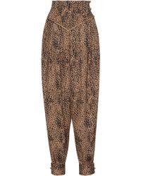 Alessandra Rich | Silk Jacquard Leopard Harem Pant | Lyst