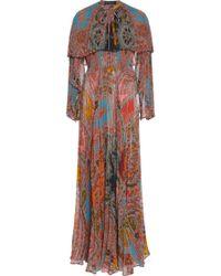 Etro long sleeve maxi dress