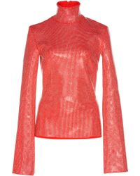 Wanda Nylon - Turtleneck With Swarovski Crystals - Lyst