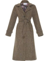 Luisa Beccaria - Belted Wool Coat - Lyst