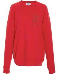 Rosie Assoulin - Sweatshirt With Red Flocked Flowers - Lyst