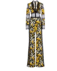 Naeem Khan - Printed Lace Panelled Jumpsuit - Lyst