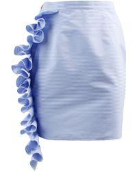 ANOUKI - Ruffled Mini Pencil Skirt - Lyst
