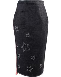 ANOUKI - Denim Pencil Skirt - Lyst