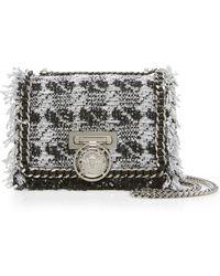 Balmain | Small Tweed Flap Box Bag | Lyst