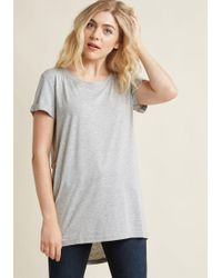 ModCloth - Simplicity On A Saturday Tunic In Grey - Lyst