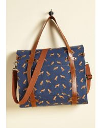 ModCloth - Camp Director Snapped Tote In Foxes - Lyst