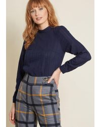 ModCloth - Twist Of Victorian Long Sleeve Top - Lyst