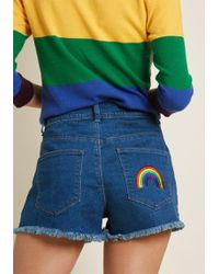 ModCloth - Come Colorfully Denim Shorts - Lyst