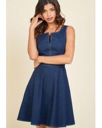 Appareline - Endlessly Fresh Denim Dress - Lyst