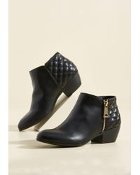 Wanted Shoes - Kicking And Screening Block Heel Bootie - Lyst