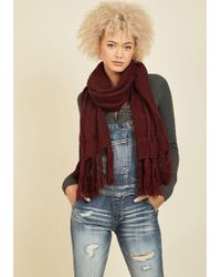 Ana Accessories Inc | Cable Knit Capability Scarf In Burgundy | Lyst