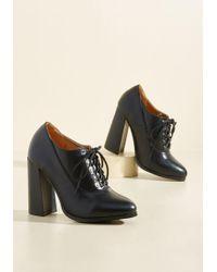 N.y.l.a. - Pull An Aptitude Oxford Heel In Black - Lyst