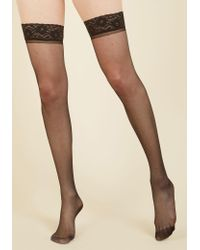 Gipsy Tights - Seam To It Thigh Highs In Black - Lyst