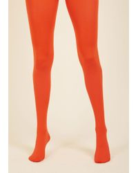 Gipsy Tights - Accent Your Ensemble Tights In Persimmon - Lyst