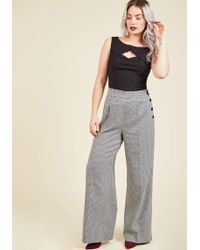 Hell Bunny London - Perfected Productivity Trousers In Houndstooth - Lyst