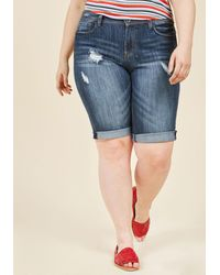 ModCloth - Boogie On Beach Town Shorts In Mid Wash - 14-24 - Lyst