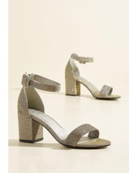 CL By Chinese Laundry - We've Got The Function Block Heel In Metallic Gold - Lyst