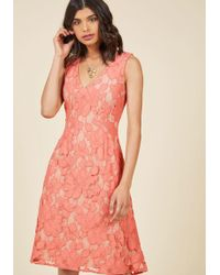 Appareline - Posh Participant A-line Dress In Coral - Lyst