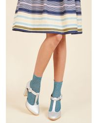 Gipsy Tights - There's A Fine, Fine Shine Socks In Blue - Lyst
