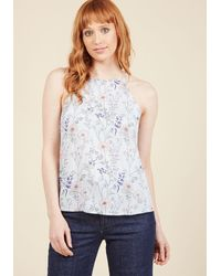Sunny Girl Pty Lltd - Architectural Adventures Sleeveless Top In Floral - Lyst