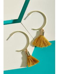 ModCloth | Exuberant Expression Tassel Earrings | Lyst