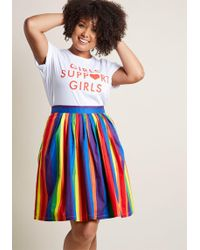 ModCloth - Aspiration Creation A-line Skirt In Vibrant - Lyst